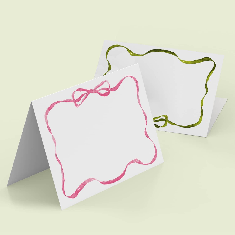 Rainbow Ribbon Place Cards