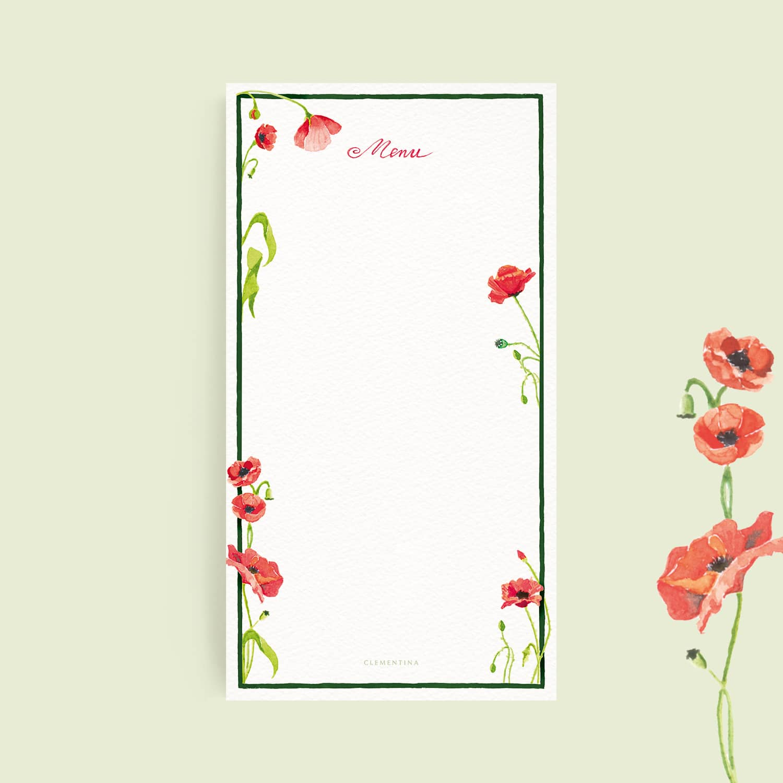 Scarlet Poppies Menus